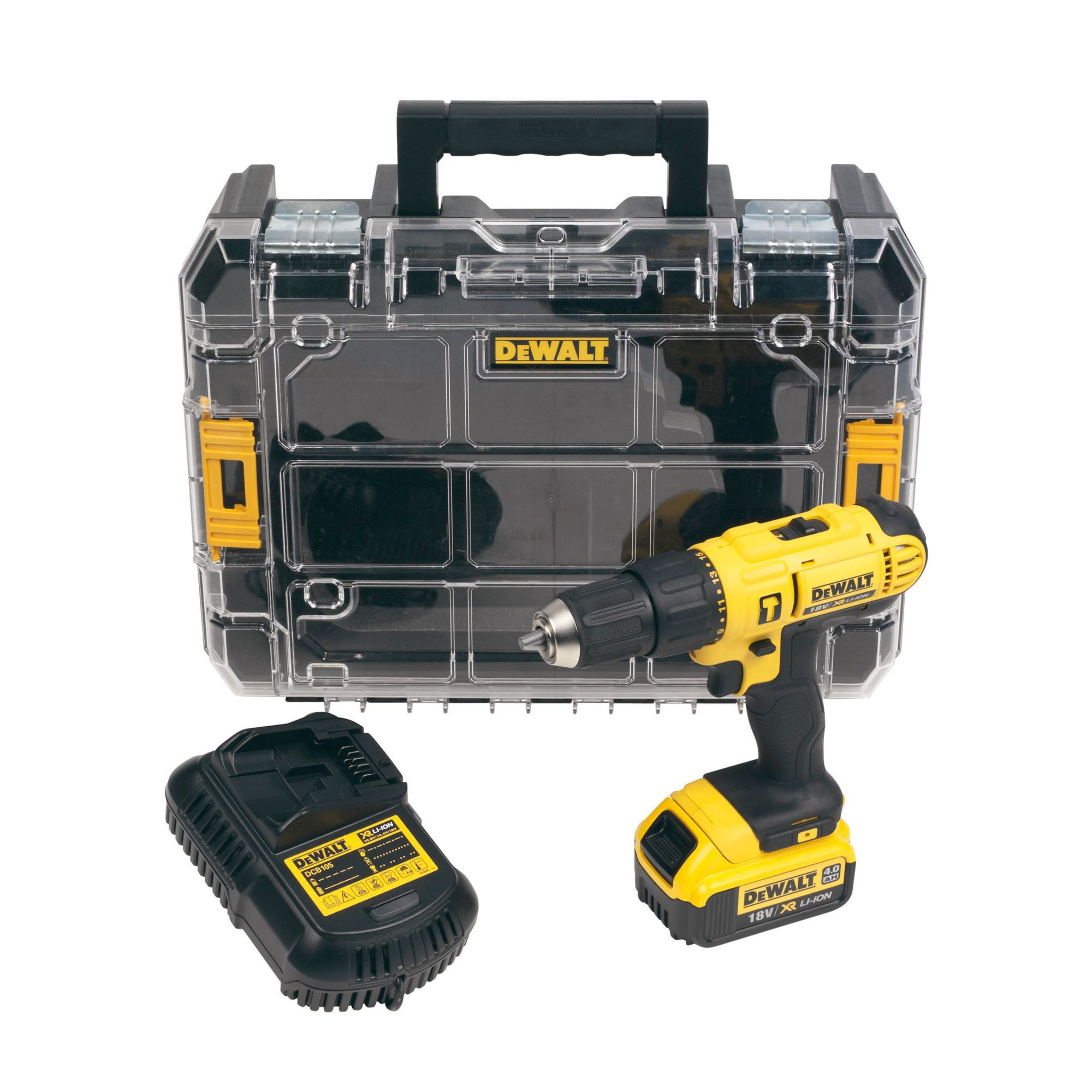 Dewalt Cordless 18v 4ah Li Ion Combi Drill 1 Battery Dcd776m1t Gb Departments Tradepoint