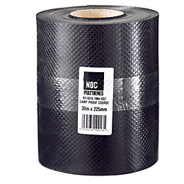 Damplas Black Damp Proof Course (W)225mm (L)30m