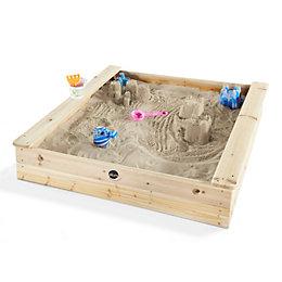 Plum Square Wooden Sandpit L113 x W113 x