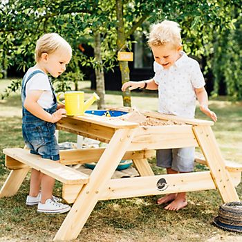 Plum outdoor sand & water picnic table