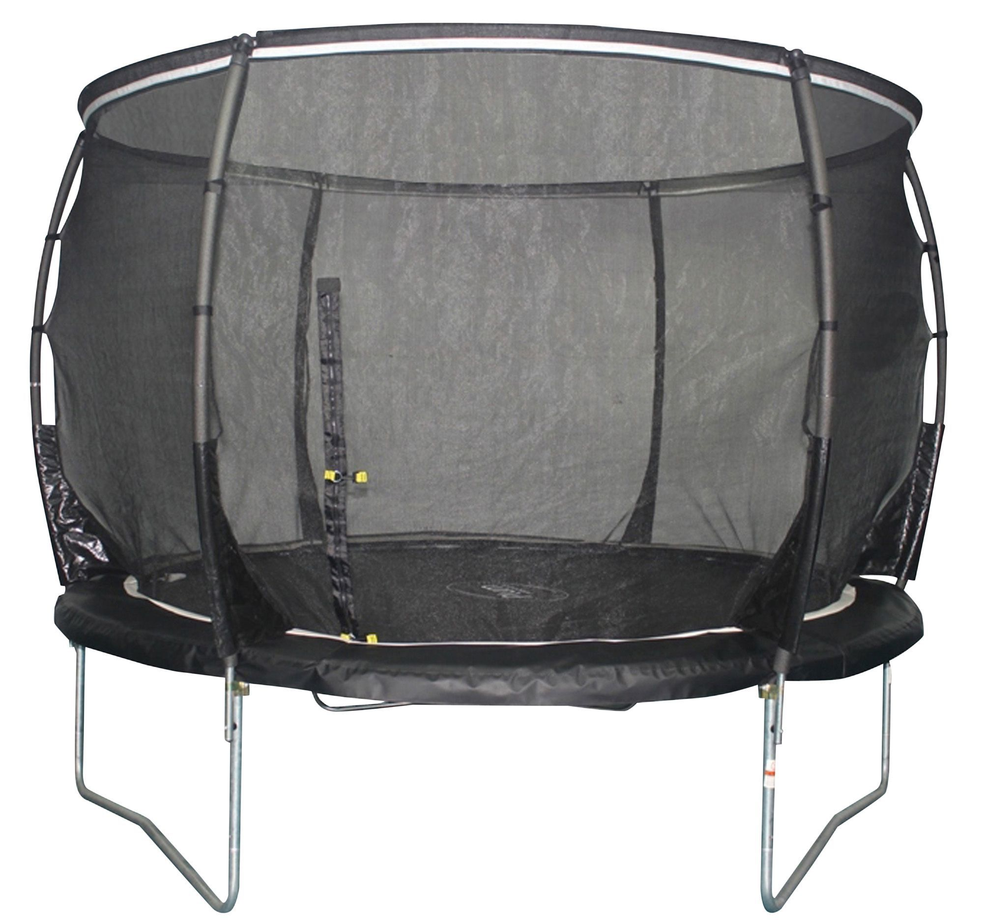 Trampoline Springs B Q: Plum Magnitude Black 8 Ft Trampoline & Enclosure
