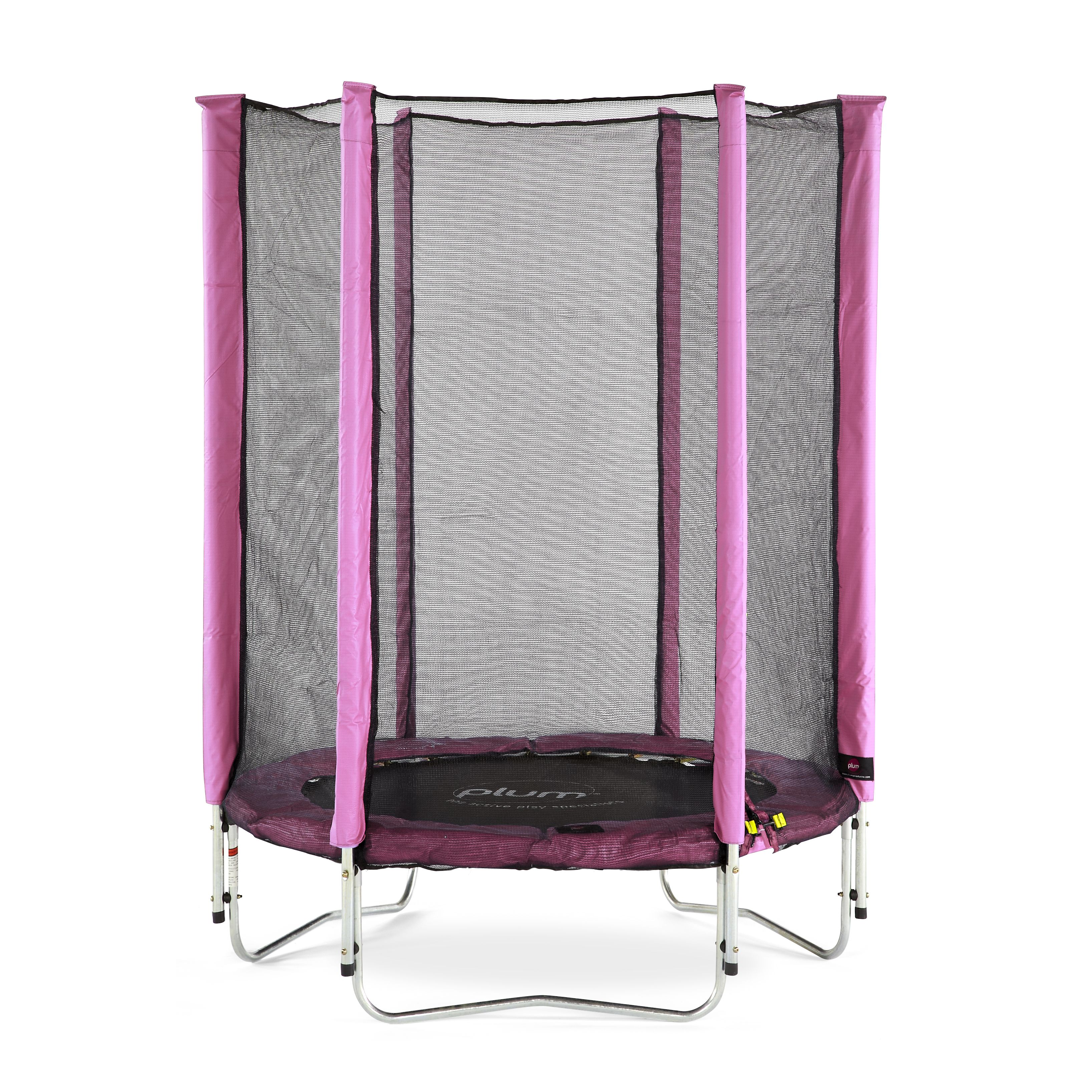 Trampoline Springs B Q: Plum Junior Pink 4.5 Ft Trampoline & Enclosure
