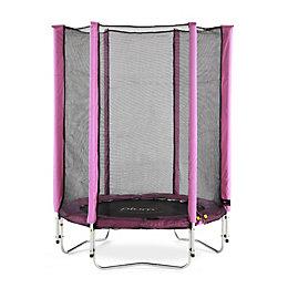 Plum Junior Pink 4.5 ft Trampoline & enclosure