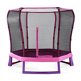 Plum Junior Pink & Purple 7 ft Trampoline