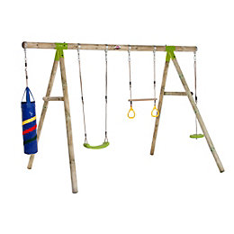 Plum Capuchin Wooden Swing set