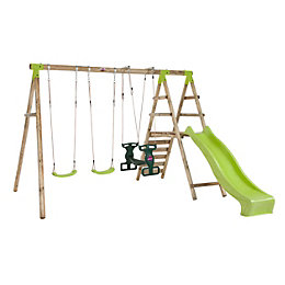Plum Silverback Wooden Swing set