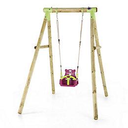 Plum Quoll Wooden Swing set