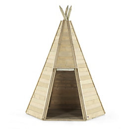L150 x W150 Outdoor Wooden Teepee with Base