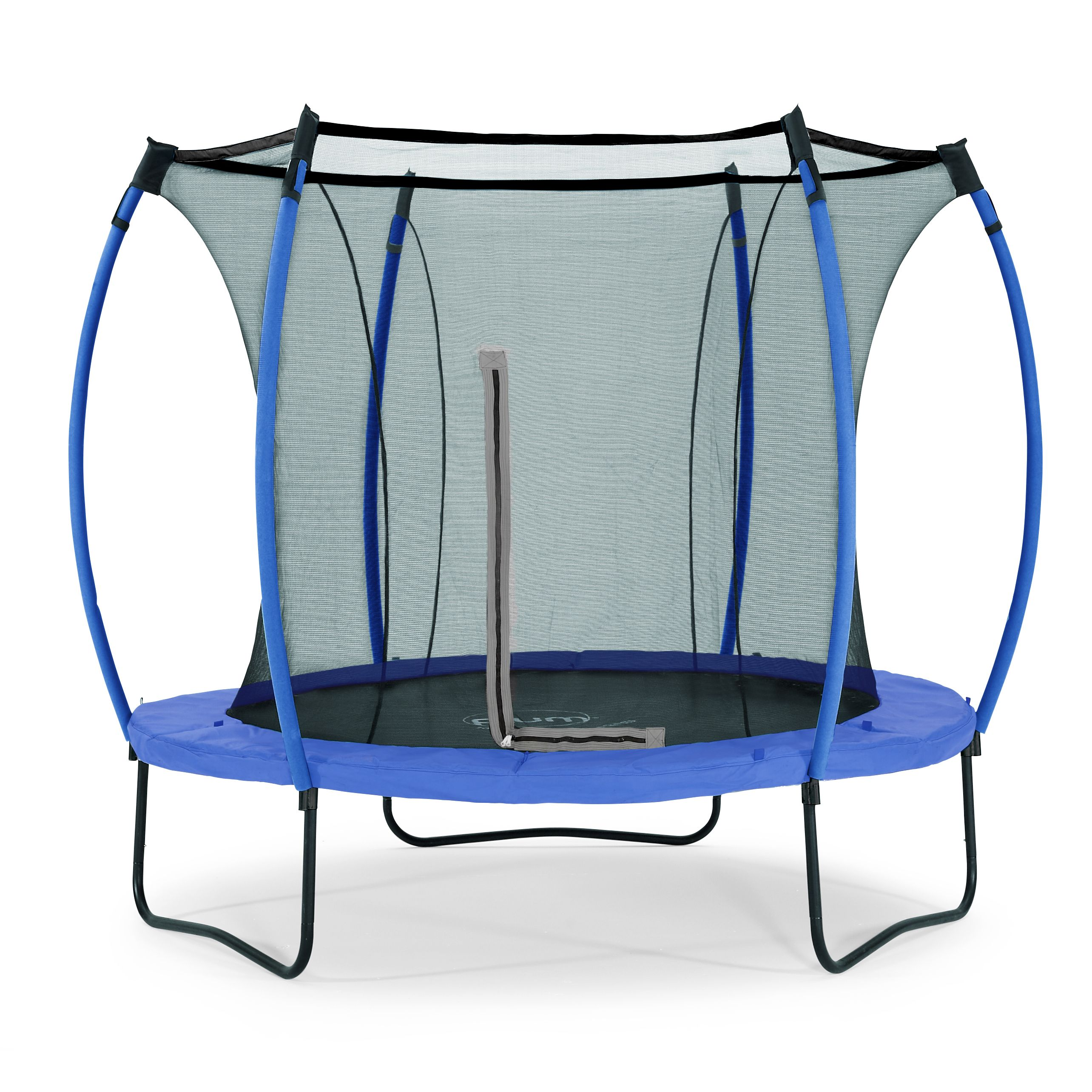 Trampoline Springs B Q: Plum Colours Blue & Lime 8ft Trampoline & Enclosure
