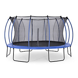 Plum Colours Blue & Lime 14ft Trampoline &