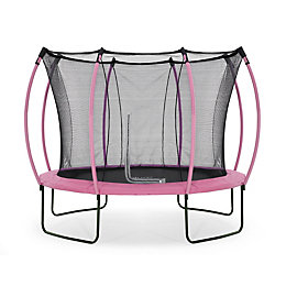 Plum Colours Pink & Turquoise 10ft Trampoline &
