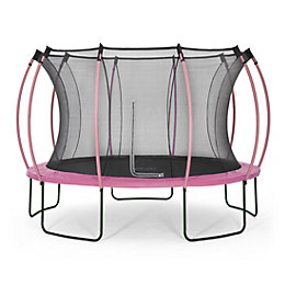 Plum Colours Pink & Turquoise 12ft Trampoline &