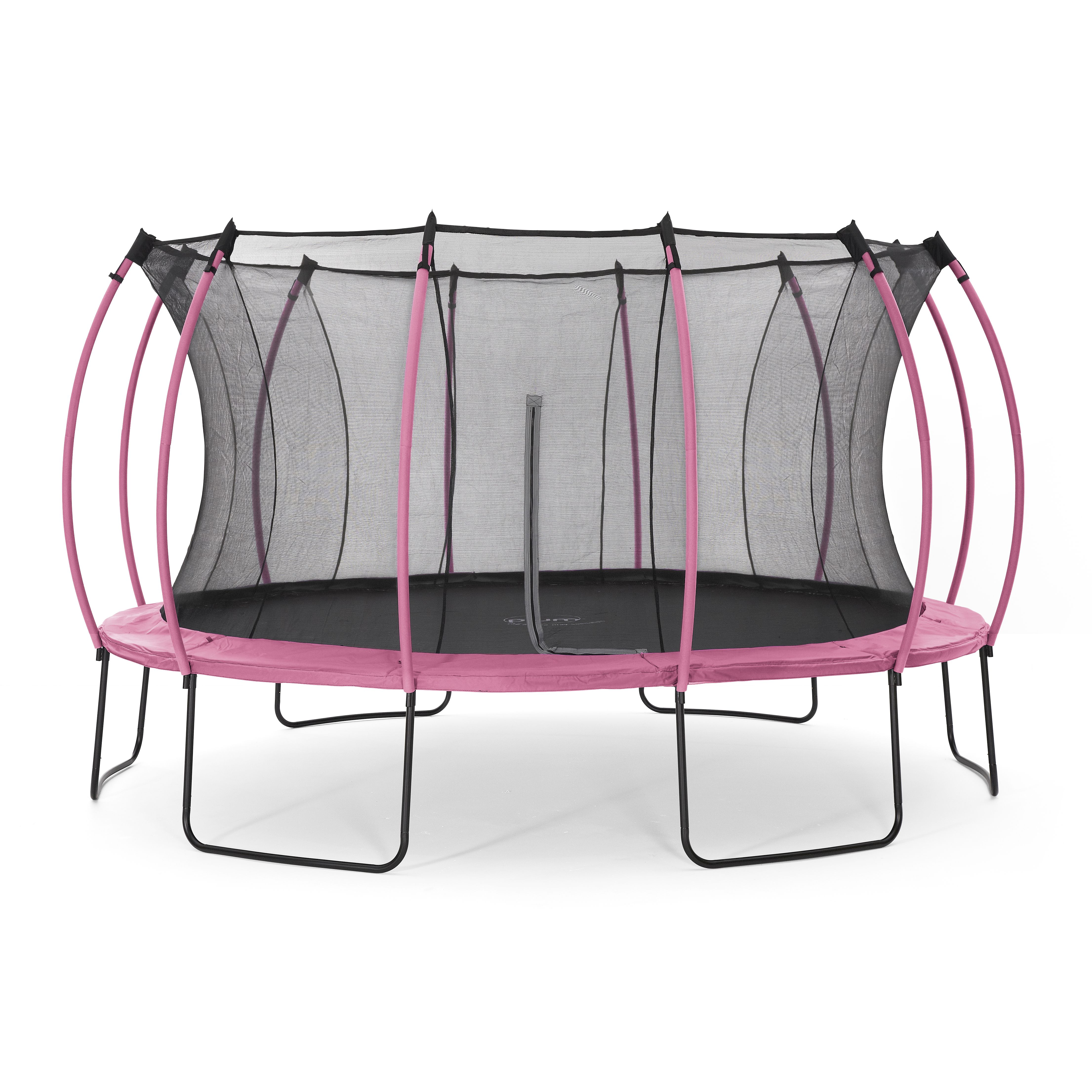 Trampoline Springs B Q: Plum Colours Pink & Turquoise 14ft Trampoline & Enclosure