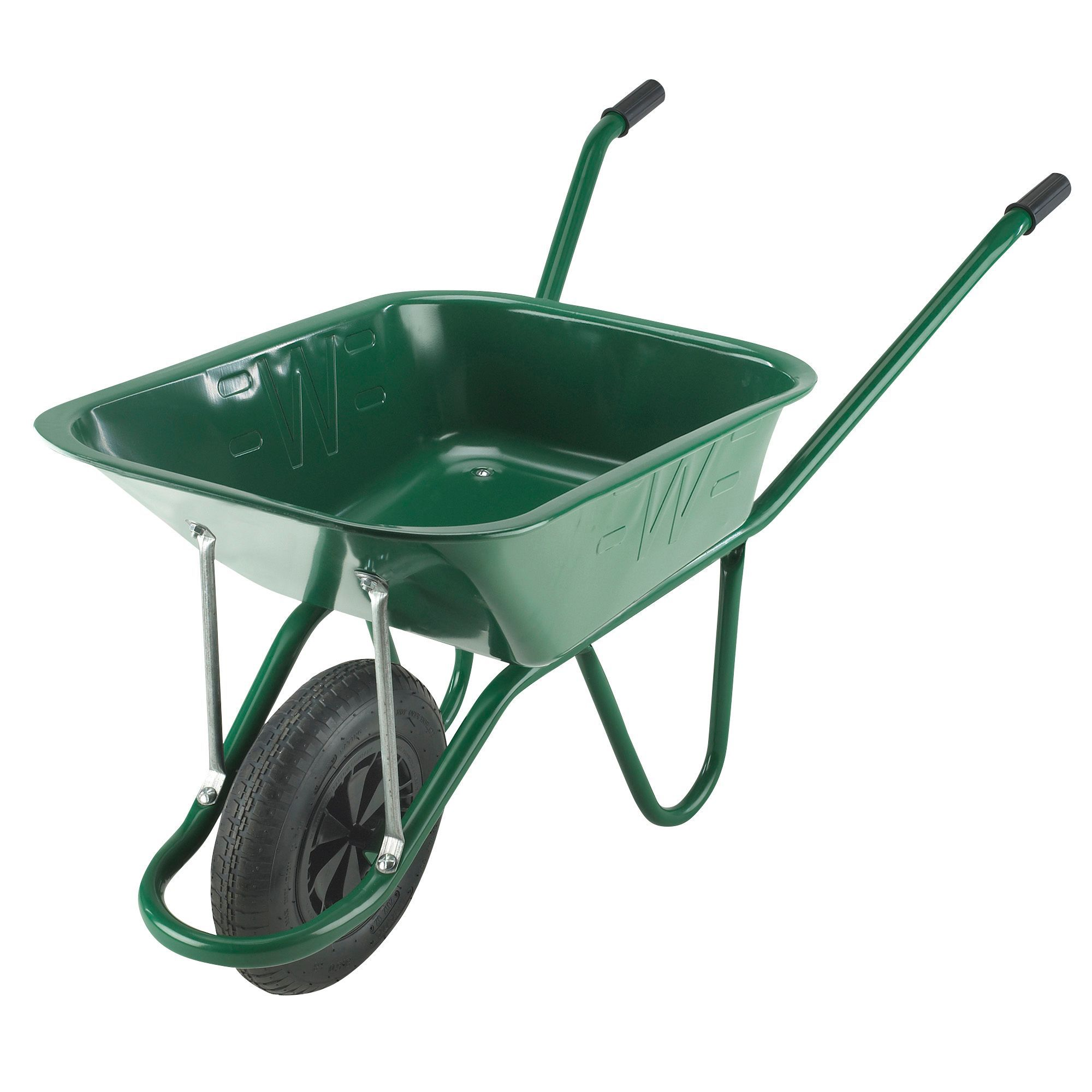 Walsall green 90l wheelbarrow departments diy at b q for Gardening tools 7 letters