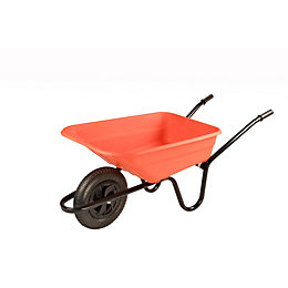 B&Q Sovereign Orange 90L Wheelbarrow