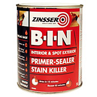 Zinsser B-I-N White Matt Primer Sealer 1L