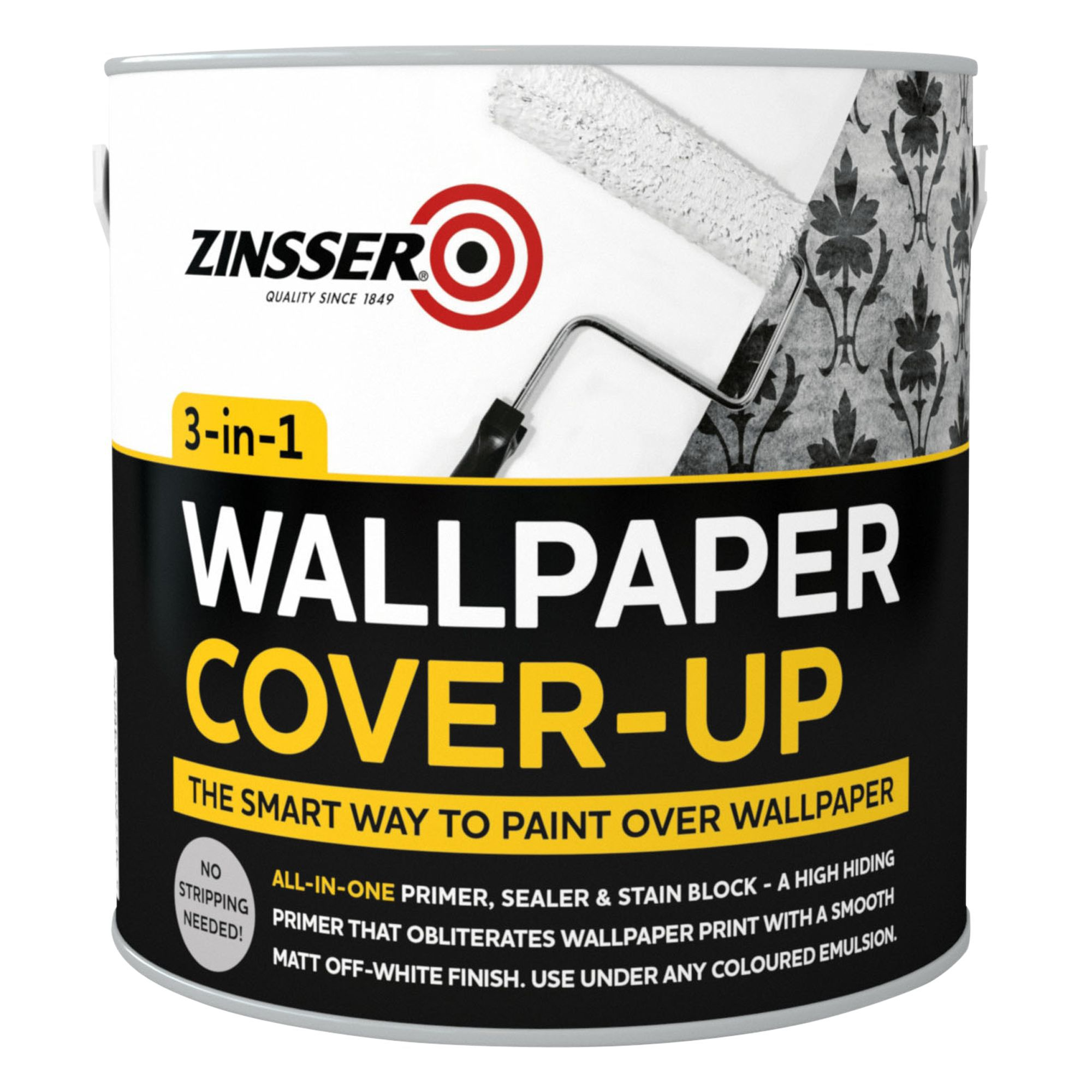Zinsser B I N Off White Matt Wallpaper Cover Up Paint