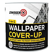 Zinsser 3-in-1 Off white Matt Wallpaper cover up paint