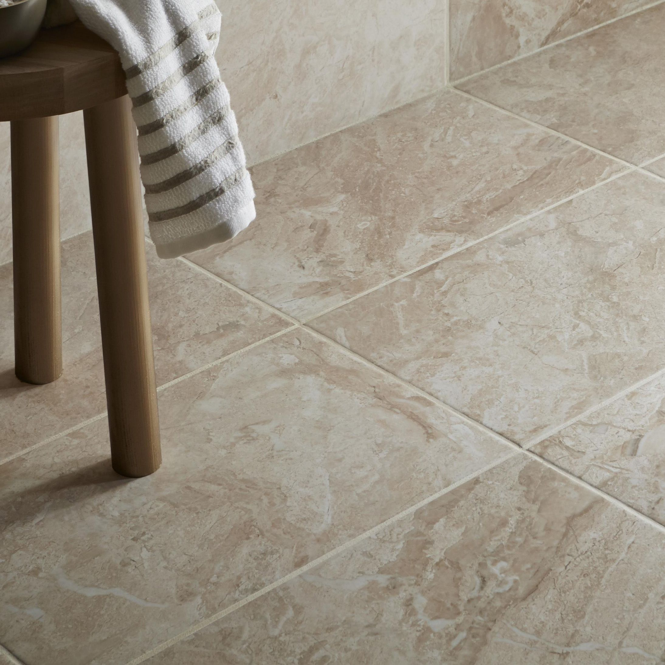Haver Chalk Matt Stone Effect Ceramic Wall Floor Tile Pack Of 6 L 498mm W 298mm Departments Diy At B Q
