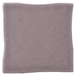 Padstow Taupe Ceramic Wall tile, Pack of 25,
