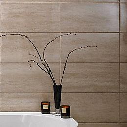 Origin Sand Stone effect Linear travertine Ceramic Wall