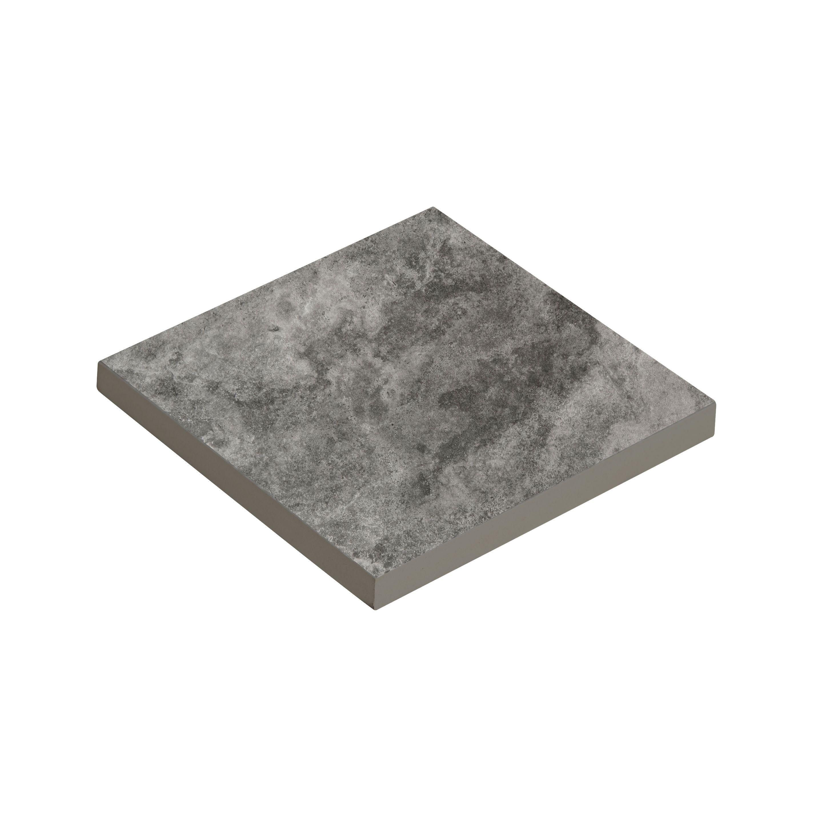 Oscano Graphite Stone Effect Ceramic Wall Floor Tile: Oscano Dark Grey Graphite Stone Effect Ceramic Sample Tile