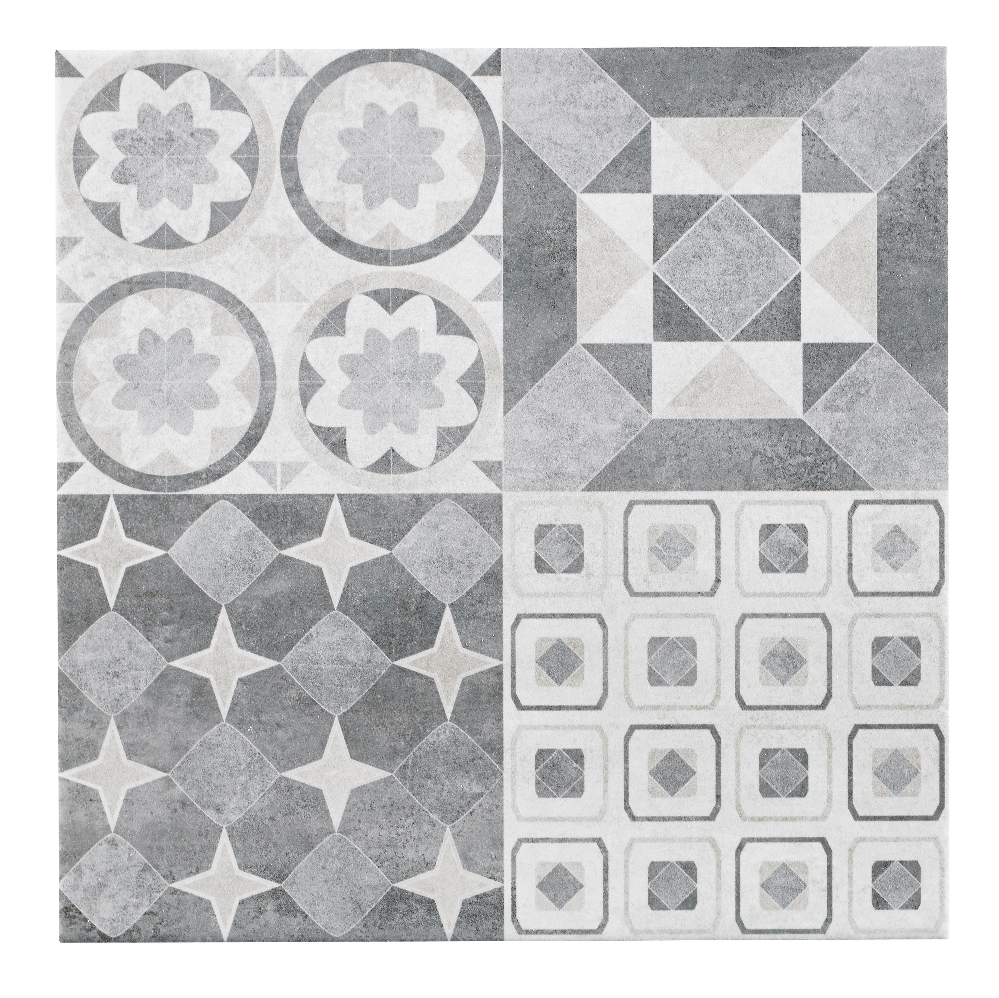 Lofthouse Grey Stone Effect Patchwork Ceramic Wall Floor Tile