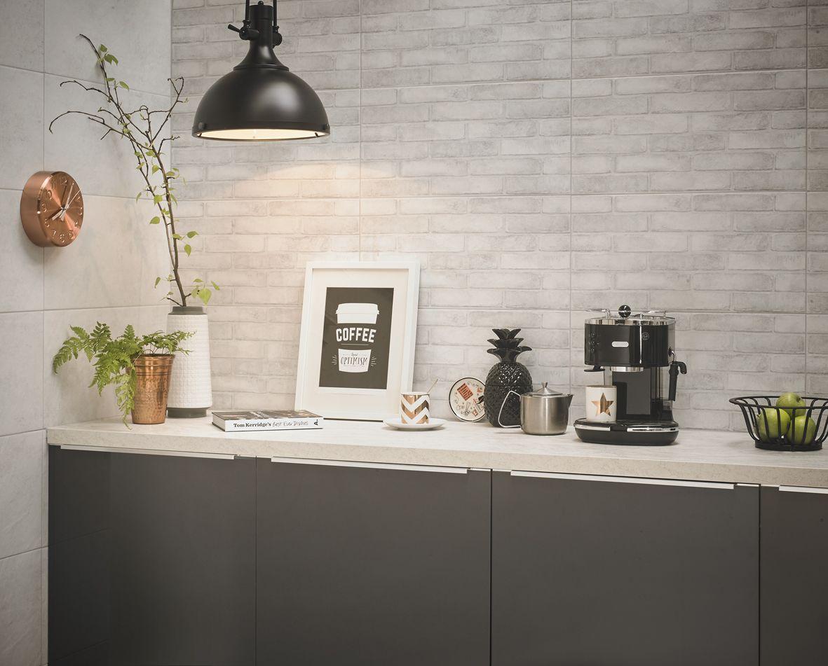 Lofthouse Whitewash Matt Brick Ceramic Wall & floor