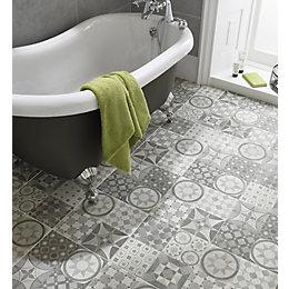 Lofthouse Grey Matt Patchwork Ceramic Wall & floor