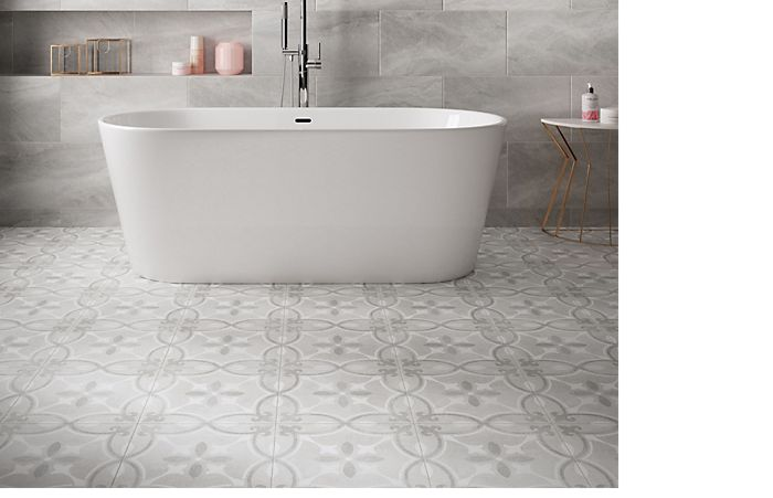 Tiled Wall With Perla Ceramic And Floor Tiles