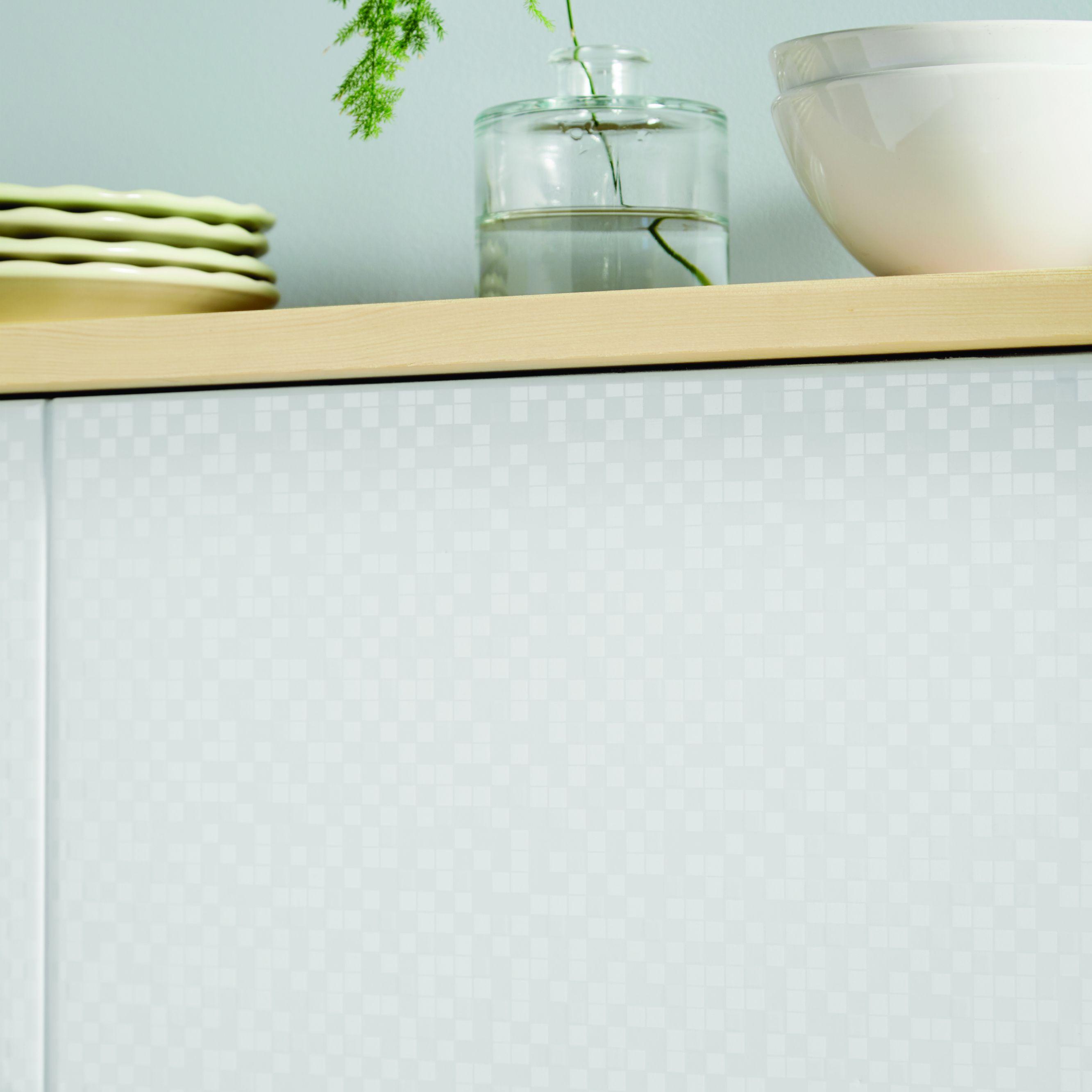 Simplicity tetris Pearl Ceramic Wall tiles, Pack of