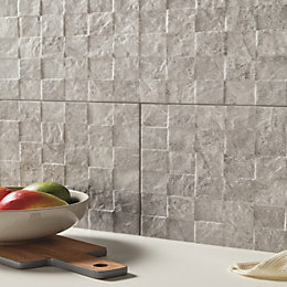 Diverso squares Rock Stone effect Ceramic Wall tile,