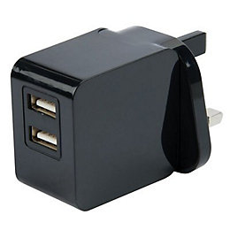 I-Star Black USB Mains Charger