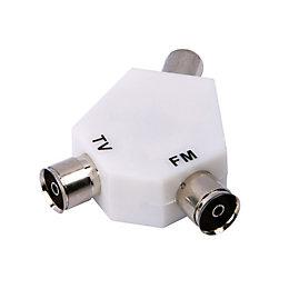 Tristar Diplexer Coaxial Aerial Splitter
