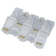 TriStar Beige RJ45 connectors, Pack of 10