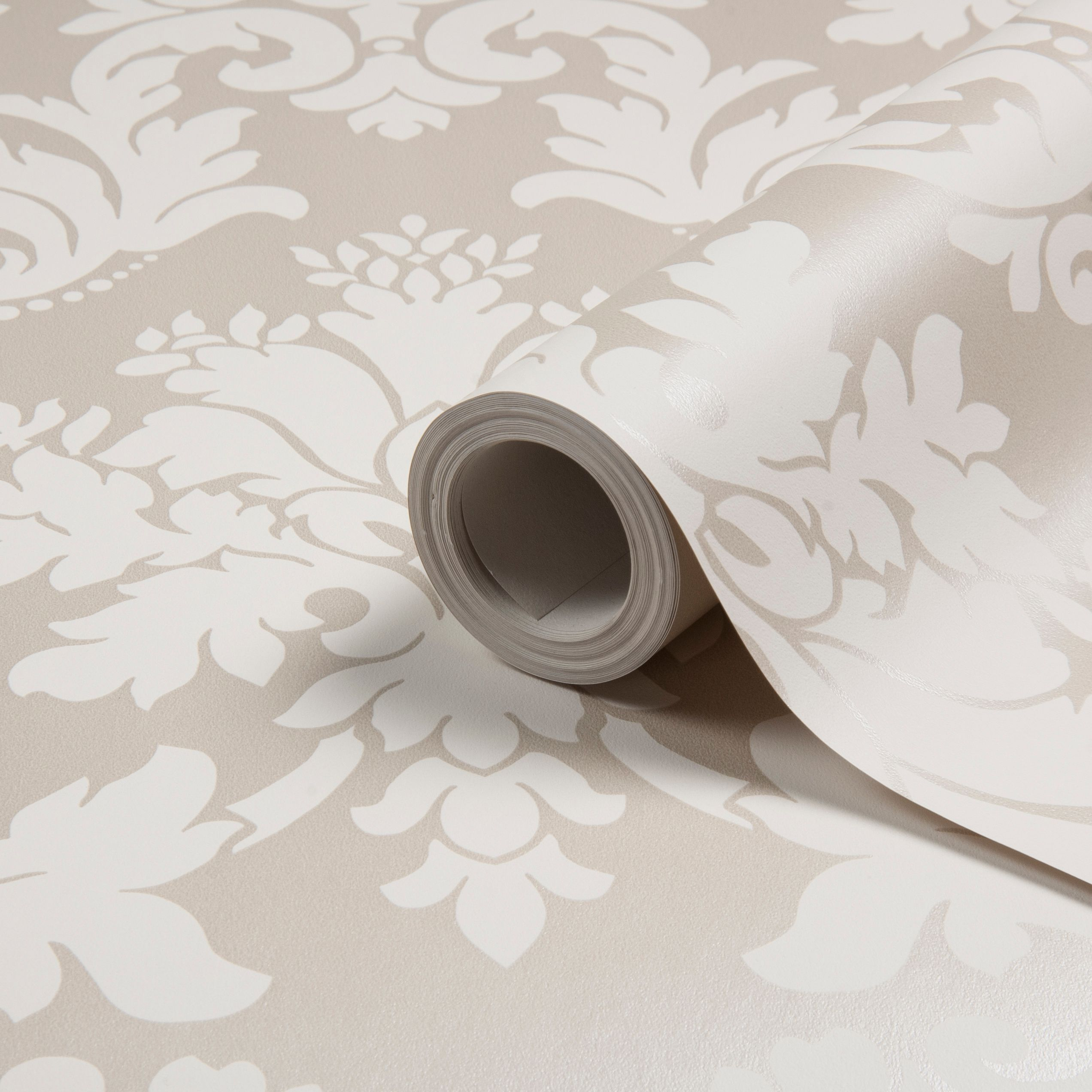 Kitchen Wallpaper At B Q: Arthouse Opera Byron Beige Damask Wallpaper