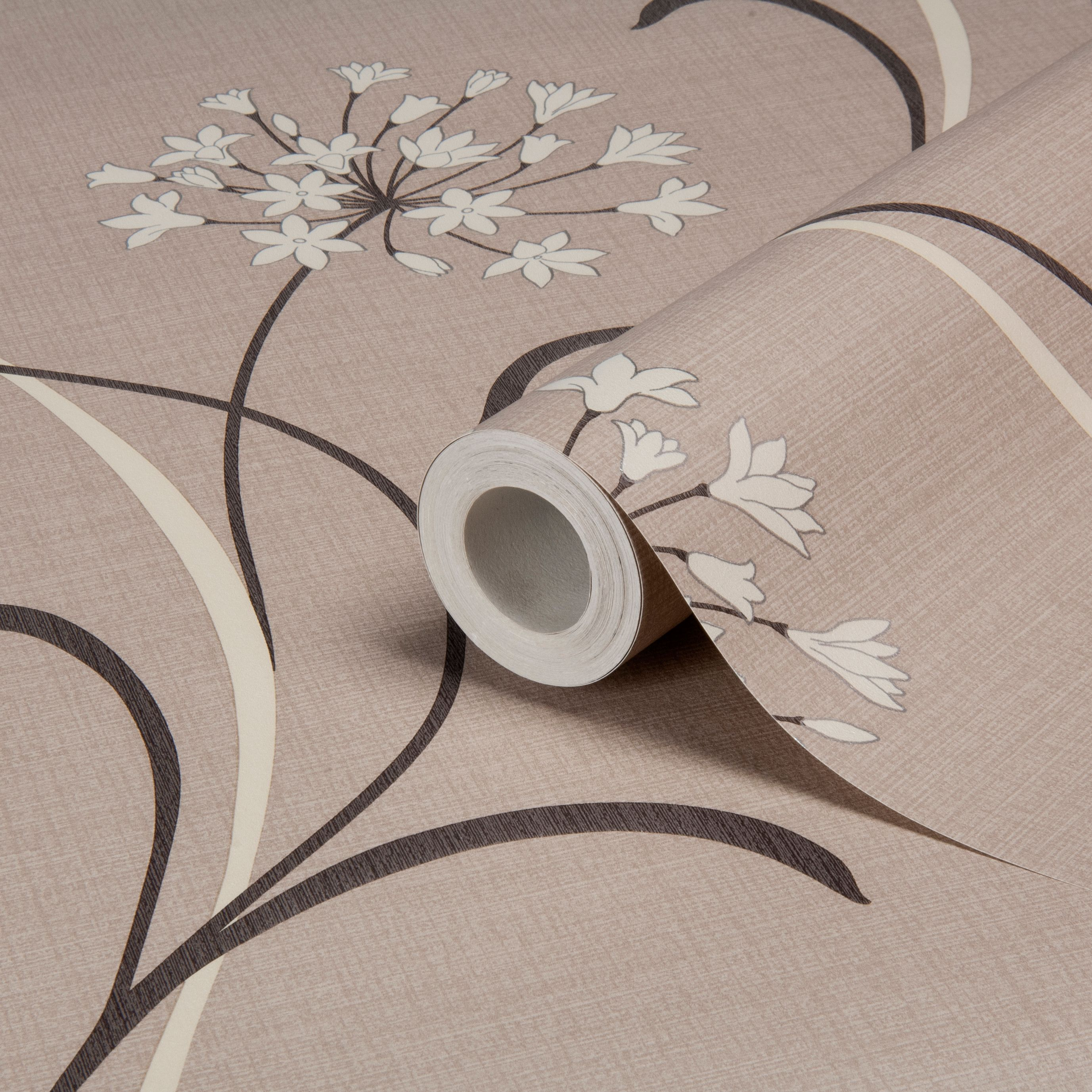 Arthouse Vintage Mia Beige, brown & cream Floral Wallpaper ...