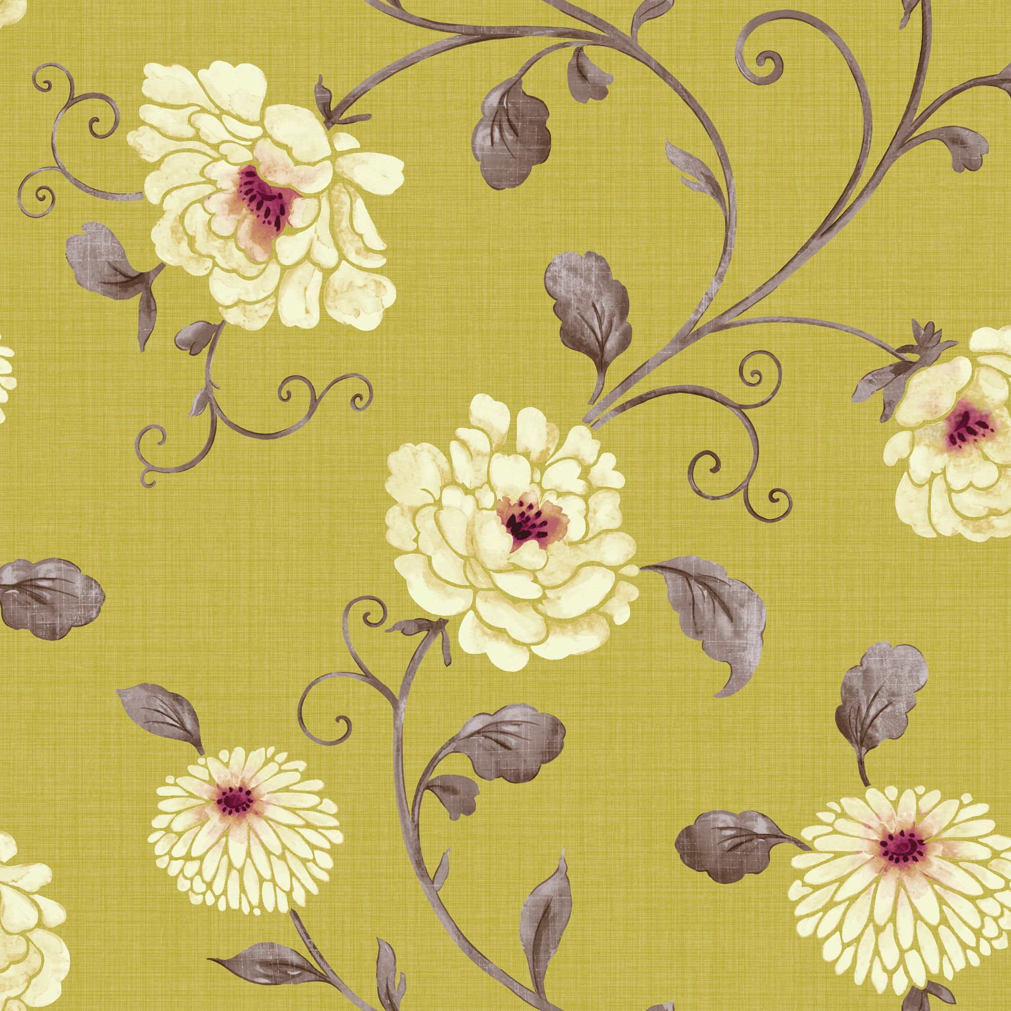 Kitchen Wallpaper At B Q: Arthouse Vintage Antoinette Pistachio Floral Wallpaper