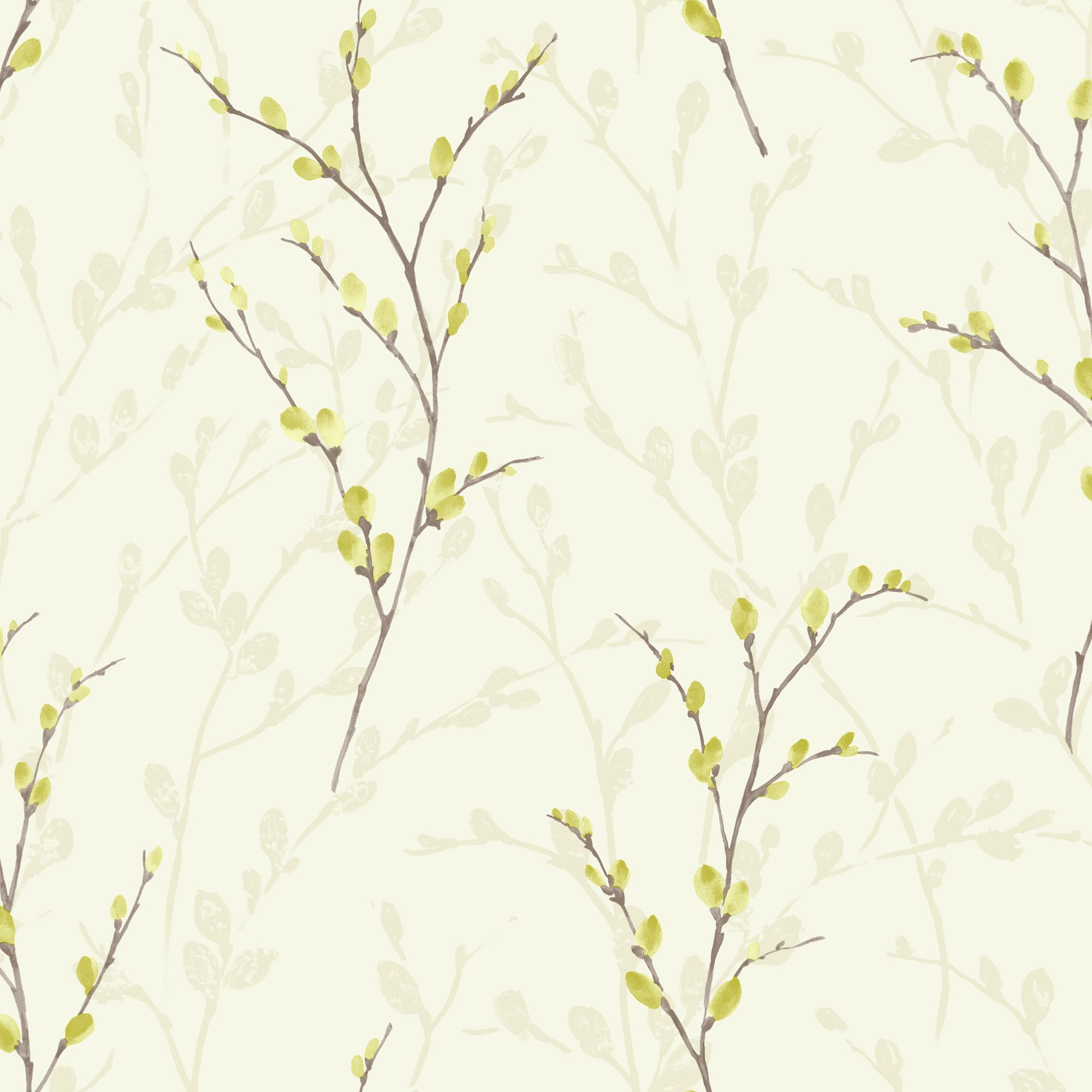 Kitchen Wallpaper At B Q: Arthouse Eco Willow Green Blossom Wallpaper