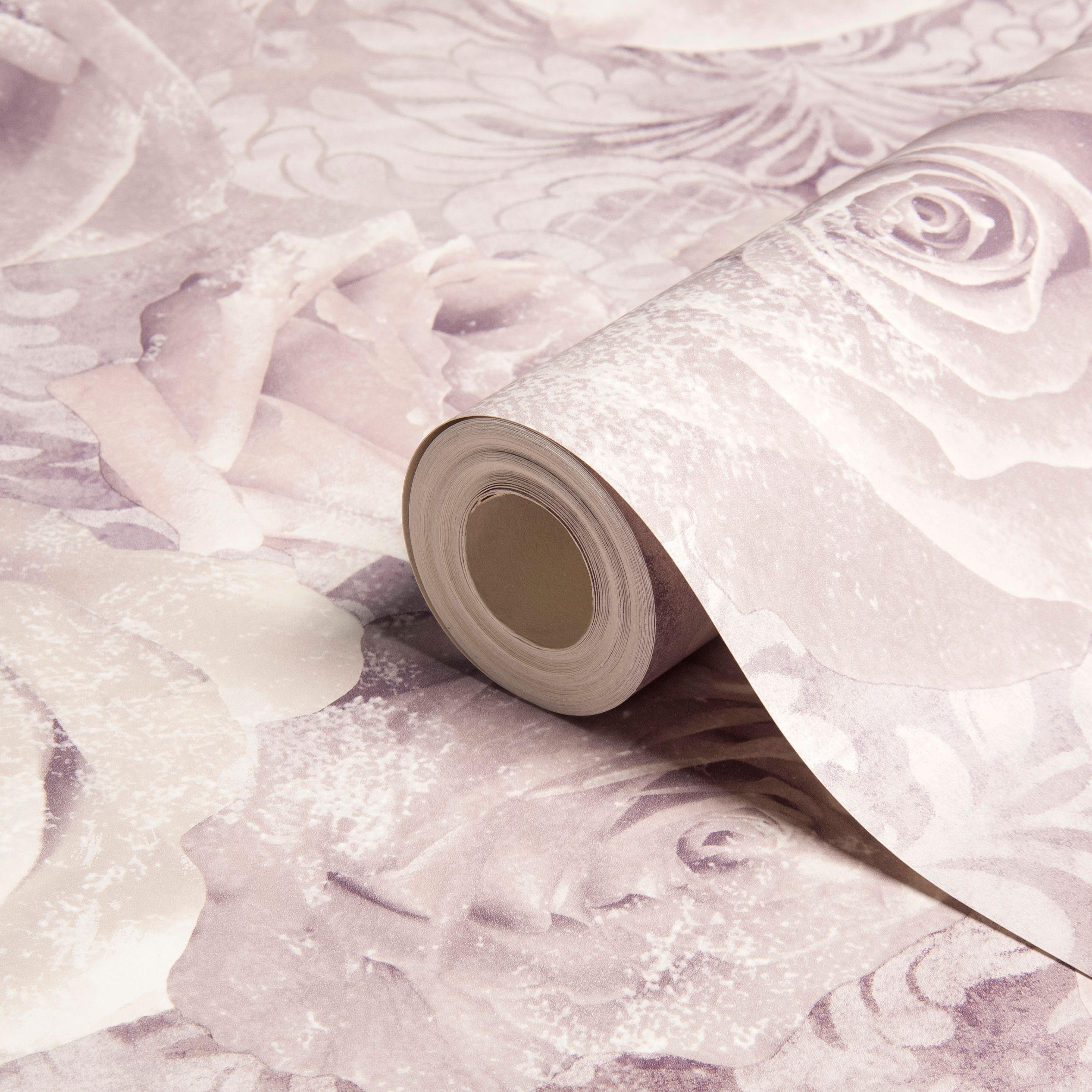 Unlimited Reverie Mauve Amp Purple Floral Wallpaper