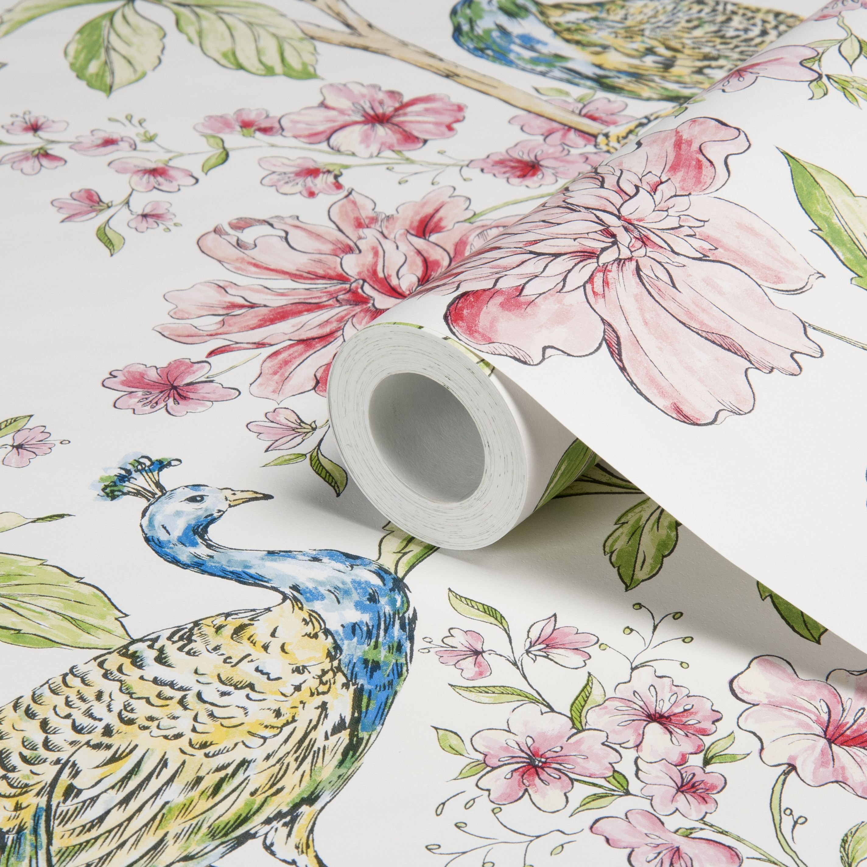 Kitchen Wallpaper At B Q: Sophie Conran Hibiscus White Peacock Floral Wallpaper