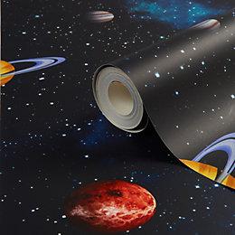 Imagine fun Planets Printed Wallpaper