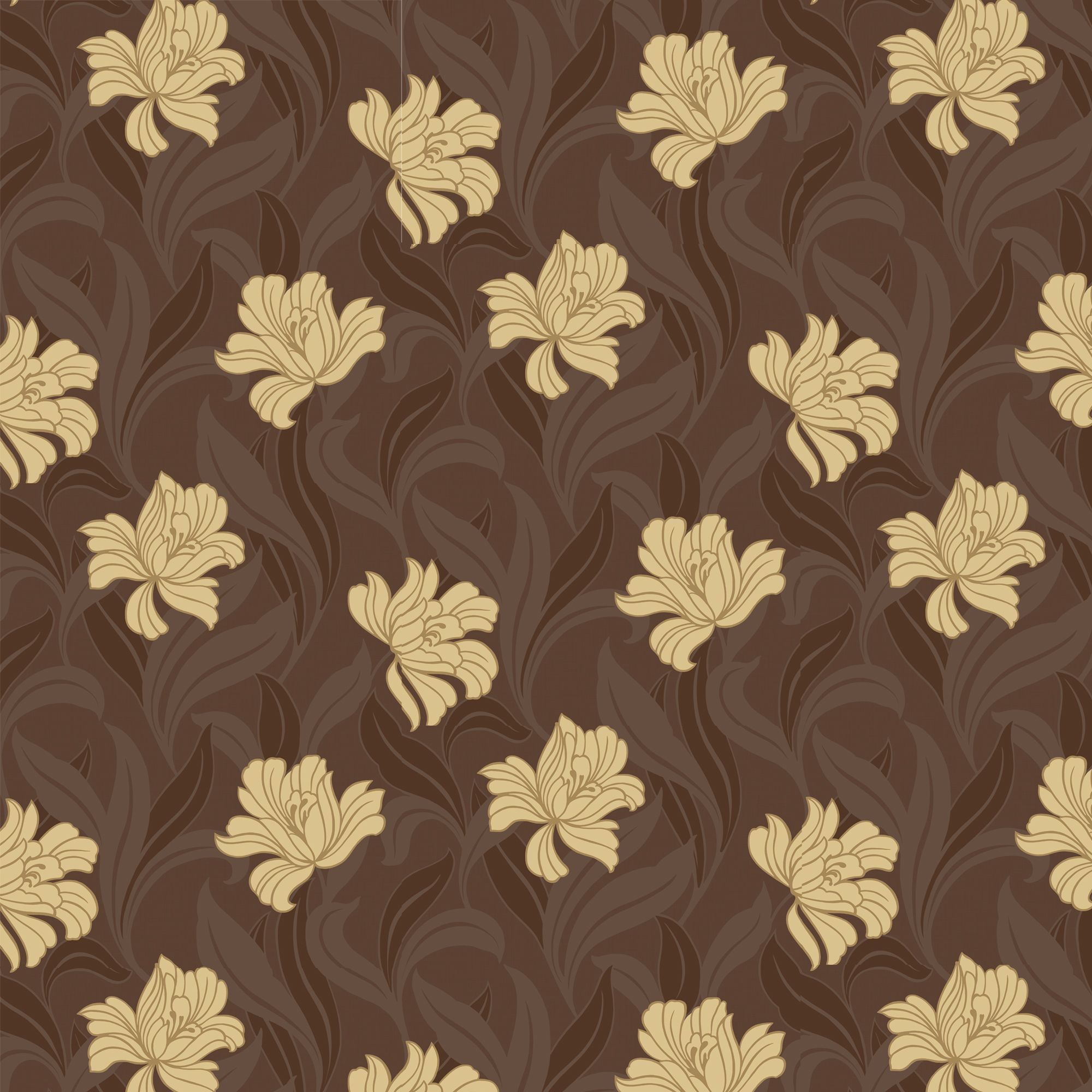 Arthouse Vintage Vogue Chocolate Brown Amp Yellow Floral