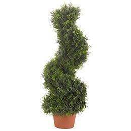 Smart Garden Cypress Effect Spiral Artificial Topiary Tree