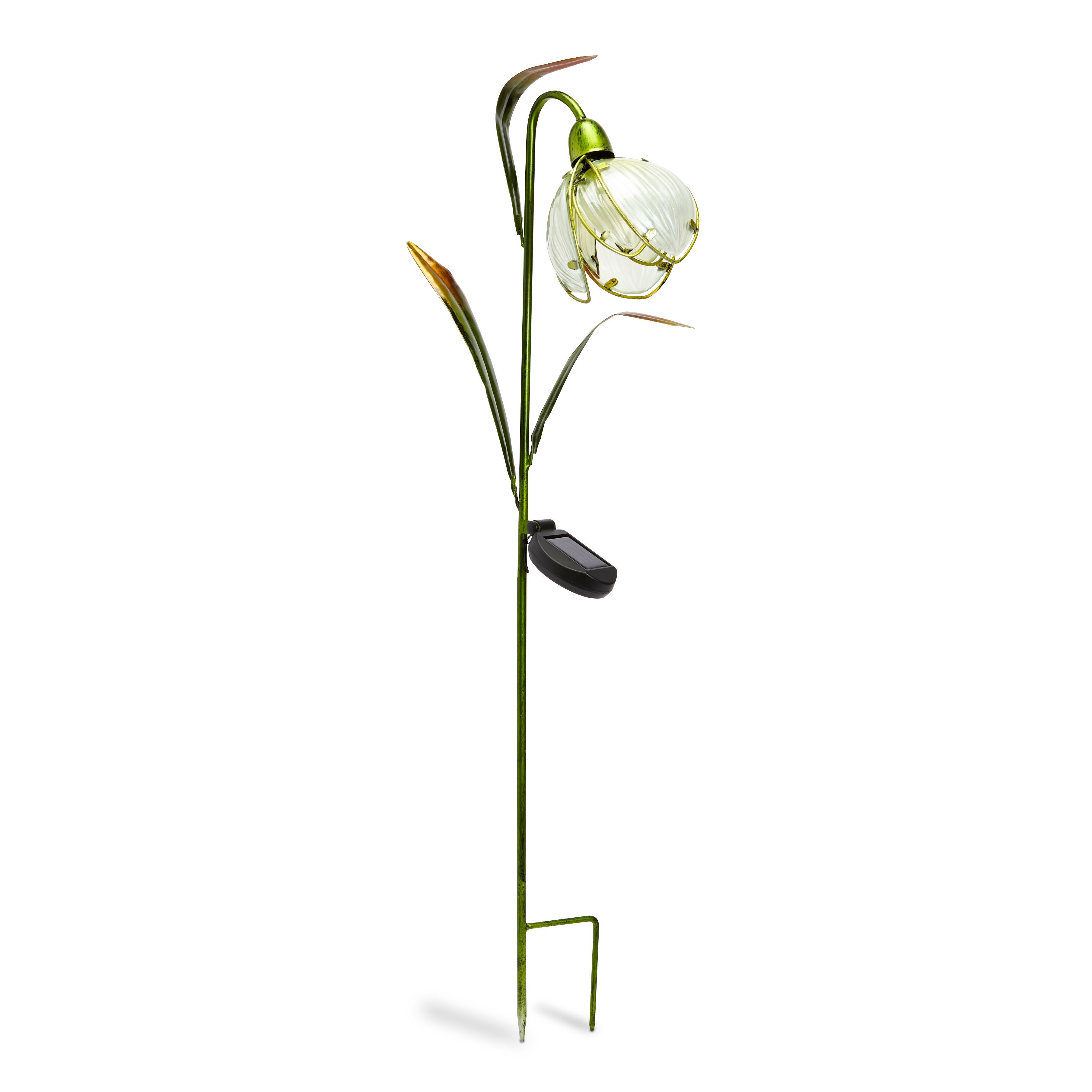 Solar Lights B Q: Smart Solar White Snowdrop Flower Solar Powered LED