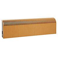 Jaga Knockonwood Horizontal Wooden cased radiator Oak veneer (H)550 mm (W)1400 mm