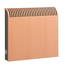 Jaga Knockonwood Horizontal Wooden cased radiator Beech veneer