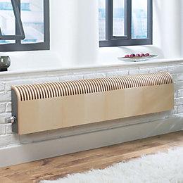 Jaga Knockonwood Horizontal Wooden Cased Radiator Maple Veneer