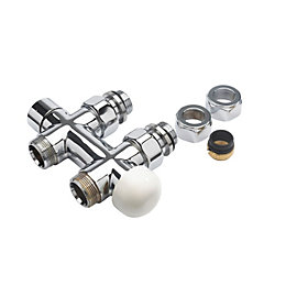 Jaga Chrome Effect Straight Thermostatic Radiator Valve