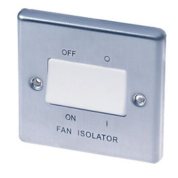 Lap 10A Single Stainless Steel Fan Isolator Switch